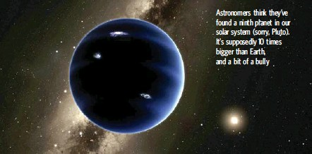 ?? CALIFORNIA INSTITUTE OF TECHNOLOGY VIA THE NEW YORK TIMES ?? An artist's impression of a possible ninth planet, which two California astronomers estimate would take at least 10,000 years to orbit the sun.