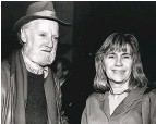 ?? Larsen and Associates ?? Lawrence Ferlinghetti and film publicist Karen Larsen.