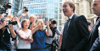 ?? THE ASSOCIATED PRESS ?? Singer Cliff Richard arrives to hear the ruling of his case against the BBC.