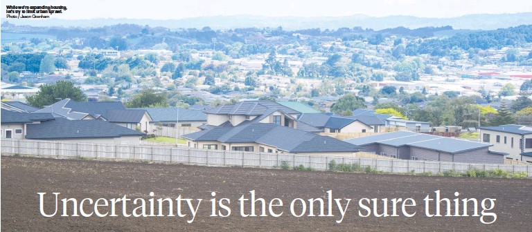 ?? Photo / Jason Oxenham ?? While we're expanding housing, let's try to limit urban sprawl.