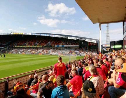 ?? FOTO SVDS ?? De voorbije weken mocht KV Mechelen nog zo'n 5.000 supporters per thuiswedstrijd ontvangen.