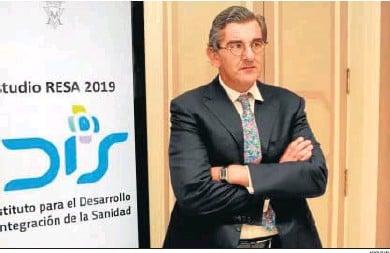 ?? ARCHIVO ?? Juan Abarca, presidente de la Fundación Idis, en la que están representados agentes de la sanidad privada.