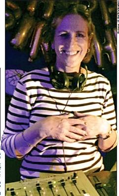 ??  ?? Headline act: Kirsty poses behind the club's DJ decks