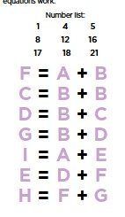 no two letters have the same numerical value match each letter to a number to make the following equations work