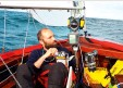 ??  ?? Hodshon and Mitchel relied on freeze-dried food during their record-breaking sail around Britain in an open Wayfarer