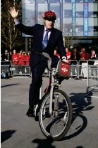 ?? (Getty) ?? The then mayor of London rides around on a 'Boris bike' in 2015