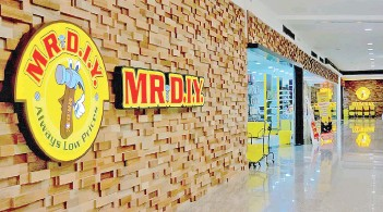 ??  ?? MR DIY's performance in the first quarter of the financial year 2021 would only be mildly affected by the latest MCO as more than 95 per cent of the group's outlets remained opened.