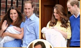 ??  ?? Kate spent the night in hospital after giving birth to George in July 2013. Left: Dr Alan Farthing helped deliver George and Charlotte (above). He will also oversee the arrival of their sibling.