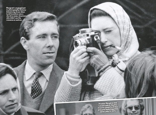 ??  ?? Margaret's engagement to photographer Antony Armstrong-jones (later Lord Snowdon) was a shock to many observers, who didn't see the romance as serious.