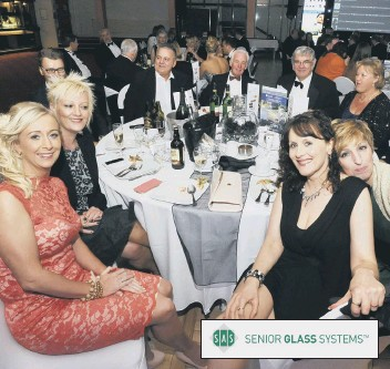 ??  ?? All smiles at last year's business awards presention evening. Inset: Senior Glass Systems are the event sponsors.