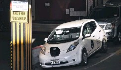 ?? PHOTO: GREGOR RICHARDSON ?? Car park juiceup . . . A DCC electric vehicle gets a top up in the car park beneath the Civic Centre.