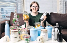??  ?? Cutting the plastic: Eleanor Pilcher with her collection of zero-waste utensils