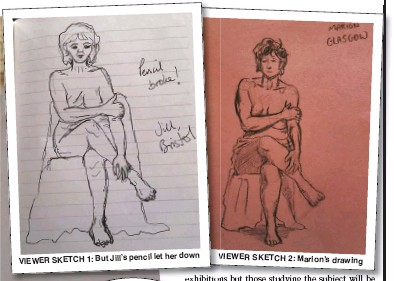 ??  ?? Pictures: ARABELLA ITANI/BBC; MARION; JILL MANSELL & DIANA ALI let her down VIEWER SKETCH 1: But Jill's pencil VIEWER SKETCH 2: Marion's drawing