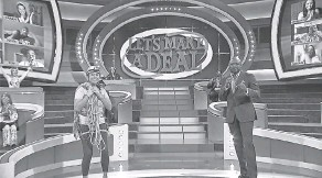 """?? PROVIDED BY FREMANTLE ?? Sandy Hooper, a USA TODAY senior producer, is a contestant on the game show """"Let's Make a Deal"""""""