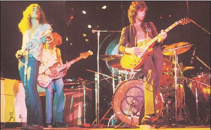 ??  ?? ROCK GODS STUMBLE: Led Zeppelin are being sued over their 1969 song Dazed and Confused.