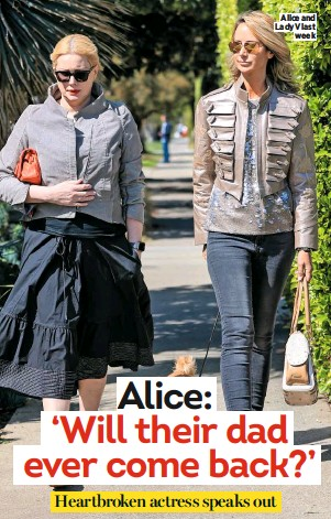 ??  ?? Alice and Lady V last week