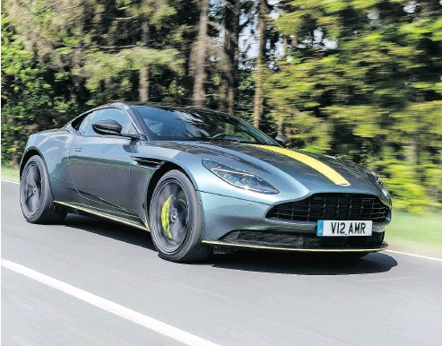 ?? ASTON MARTIN / DRIVING.CA ?? A hoot-and-a-half to drive, the DB11 AMR can tackle short straights, fast sweepers and tight hairpins with ease.