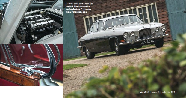 ??  ?? Clockwise: the Mkx's nose was a radical departure; quality touches feature; E-type spec makes for a rapid saloon