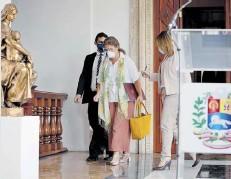 ??  ?? La embajadora de la UE en Venezuela, Isabel Brilhante,