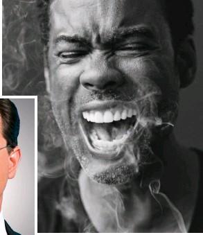 ??  ?? They're having a laugh: Stephen Colbert & Chris Rock