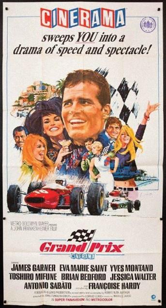 ??  ?? Left: Original Grand Prix movie poster