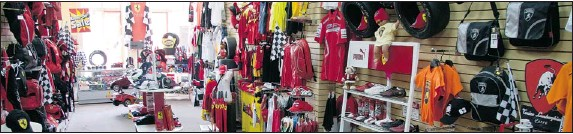 """?? pHotoS By Liz Leggett Special to tHe GaZette ?? Max Bitton's Formula one boutique in old Montreal is filled with Ferrari merchandise and F1 memorabilia. """"We have friends from all over the world who email us, calls us and come by."""""""