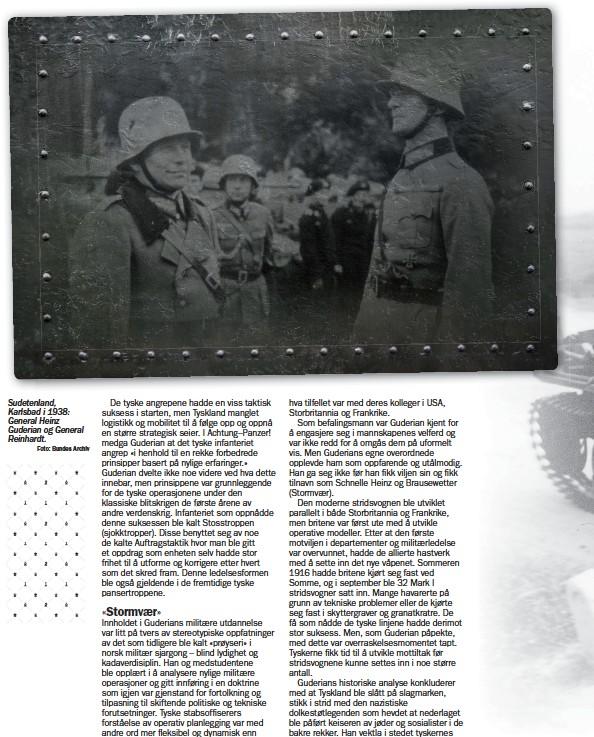 ?? Foto: Bundes Archiv ?? Sudetenland, Karlsbad i 1938: General Heinz Guderian og General Reinhardt.
