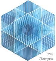 ??  ?? Blue Hexagon by Christine Dutcher