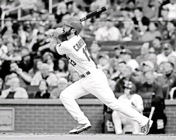 ?? JEFF CURRY, USA TODAY SPORTS ?? Cardinals third baseman Matt Carpenter continues to take steps forward.
