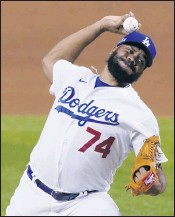 ?? TONY GUTIERREZ — THE ASSOCIATED PRESS ?? Kenley Jansen is entering the final season of his contract with the Dodgers — and likely the franchise all-time saves leader's final season as closer in Los Angeles.