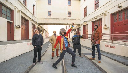 ?? Pamela Gentile / SFFilm ?? Threetime Grammy winner Fantastic Negrito and his band before performing at Fort Mason.