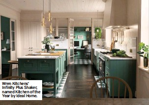 ??  ?? Wren Kitchens' Infinity Plus Shaker, named Kitchen of the Year by Ideal Home.