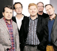 ?? SUPPLIED ?? Kids in the Hall Bruce McCulloch, Kevin McDonald, Dave Foley, Mark McKinney and Scott Thompson are in town May 19.