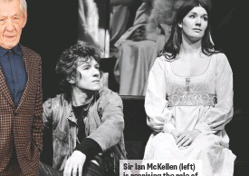 ??  ?? Sir Ian McKellen (left) is reprising the role of Hamlet (above), which he famously tackled in 1971.