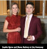 ??  ?? Sophie Byrne and Shane Berkery at the Hennessy Portrait Prize 2017, in the National Gallery of Ireland. The exhibition runs until February 25