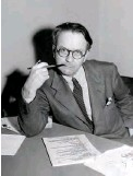 """?? AP PHOTO ?? Mystery novelist and screenwriter Raymond Chandler, shown here in a 1946 portrait, created private eye Philip Marlowe in the novels """"The Big Sleep,"""" """"Farewell My Lovely"""" and """"The Long Goodbye."""""""