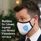 ?? FOTO BELGA ?? Matthias De Caluwe, topman van Horeca Vlaanderen.