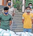 ?? IANS ?? POLICE arrested two paramedics for the sale of oxygen cylinders.  