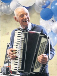 ?? Many happy returns: ?? Alan Saunders celebrated his 90th birthday on Tuesday, May 4, and had a party on May 1.