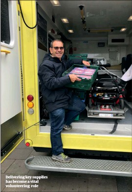 ??  ?? Delivering key supplies has become a vital volunteering role