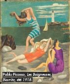 ??  ?? Pablo Picasso, Les Baigneuses, Biarritz, été 1918.