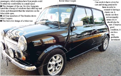 Facts On The Rover Mini Cooper