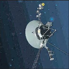 ?? NASA / AP ?? Imagen virtual de la Voyager 1 alejándose del Sol