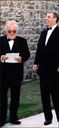 ??  ?? CONTROVERSY: Prince Andrew with David Rowland at the financier's luxury home on the island of Guernsey