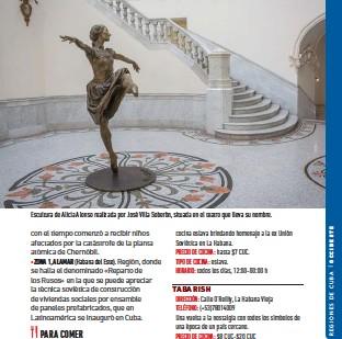 ??  ?? Escultura de Alicia Alonso realizada por José Villa Soberón, situada en el teatro que lleva su nombre.