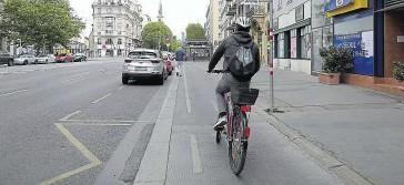 ??  ?? Praterstraße: Laut Grünen gibt es dort jetzt 66 Prozent mehr Radler.