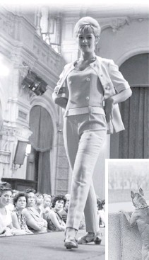??  ?? На подиуме Общесоюзного дома моделей манекенщицы демонстрировали шикарные костюмы.