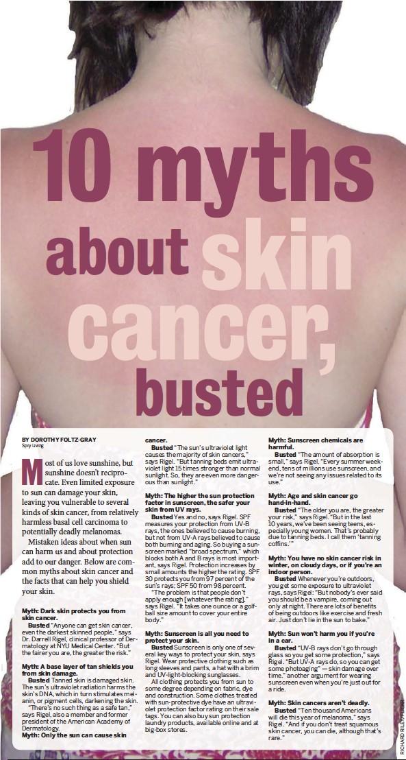 Pressreader Imperial Valley Press 2017 03 17 10 Myths About Skin Cancer Busted