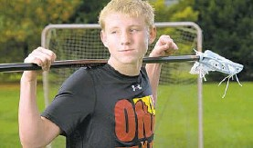 ?? KARL MERTON FERRON/THE BALTIMORE SUN ?? Glenelg Country's Riley Reese will follow in his father's footsteps and play men's lacrosse at Maryland.