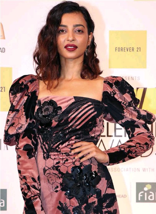 ?? File/agence France-presse Indo-asian News Service ?? Bollywood actress Radhika Apte attends the first edition of the 'Grazia Millennial Awards' in Mumbai on June 19, 2019.
